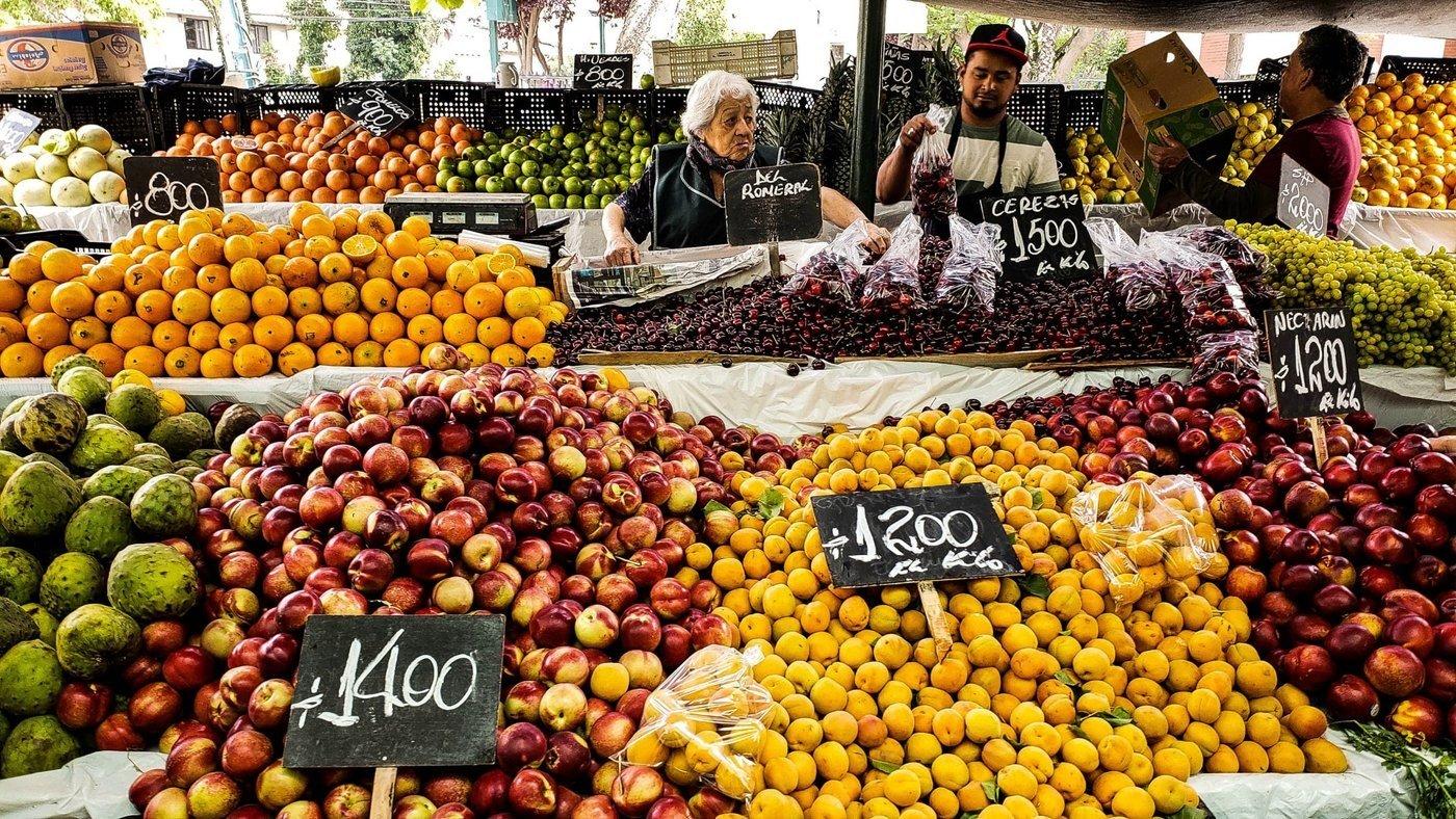 Wochenmarkt in Santiago de Chile