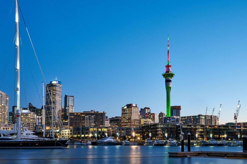 Skyline von Auckland in Neuseeland