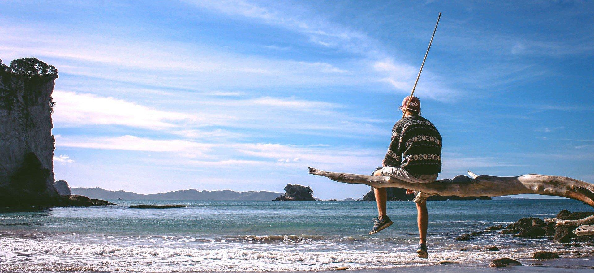 Work & Traveller am Strand von Australien