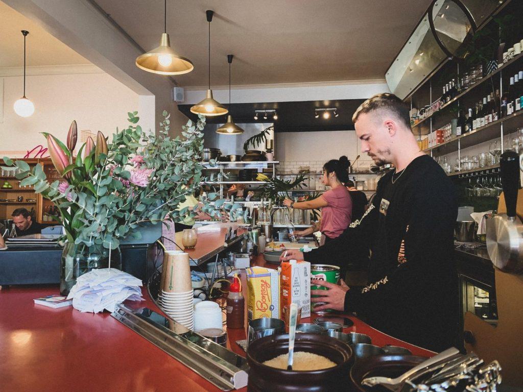 Cafe in Australien