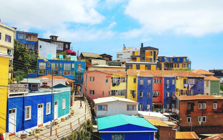 Aussicht auf idyllisches Viertel in Chile