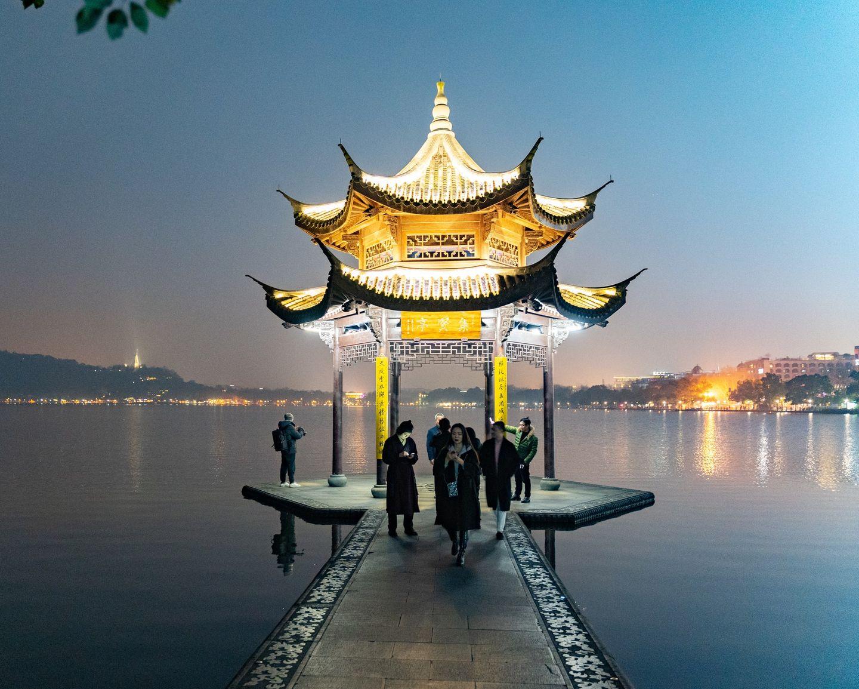 Sightseeing am Abendhimmel in China