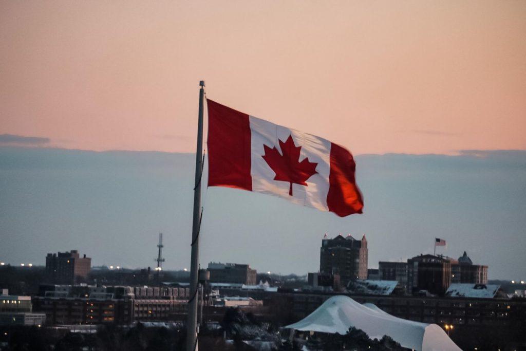 Work & Travel Kanada Flagge