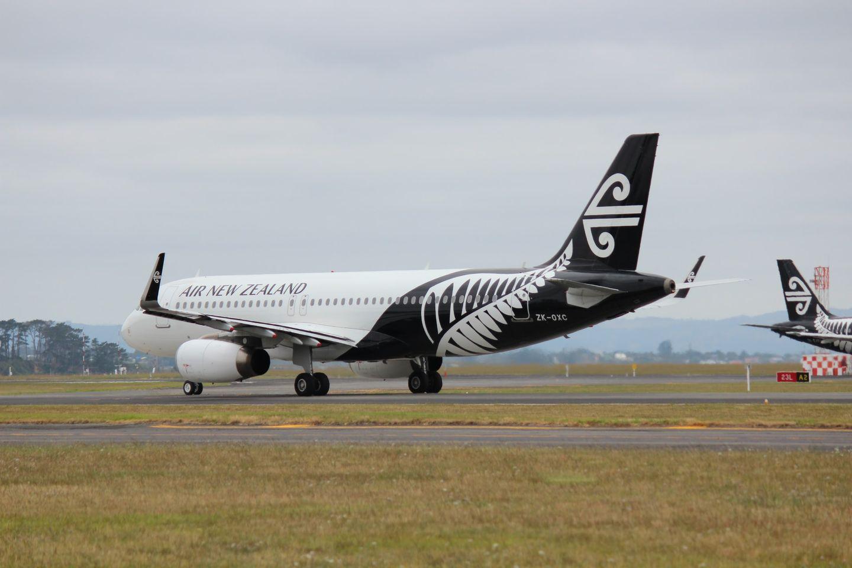 Flugzeug landet in Neuseeland