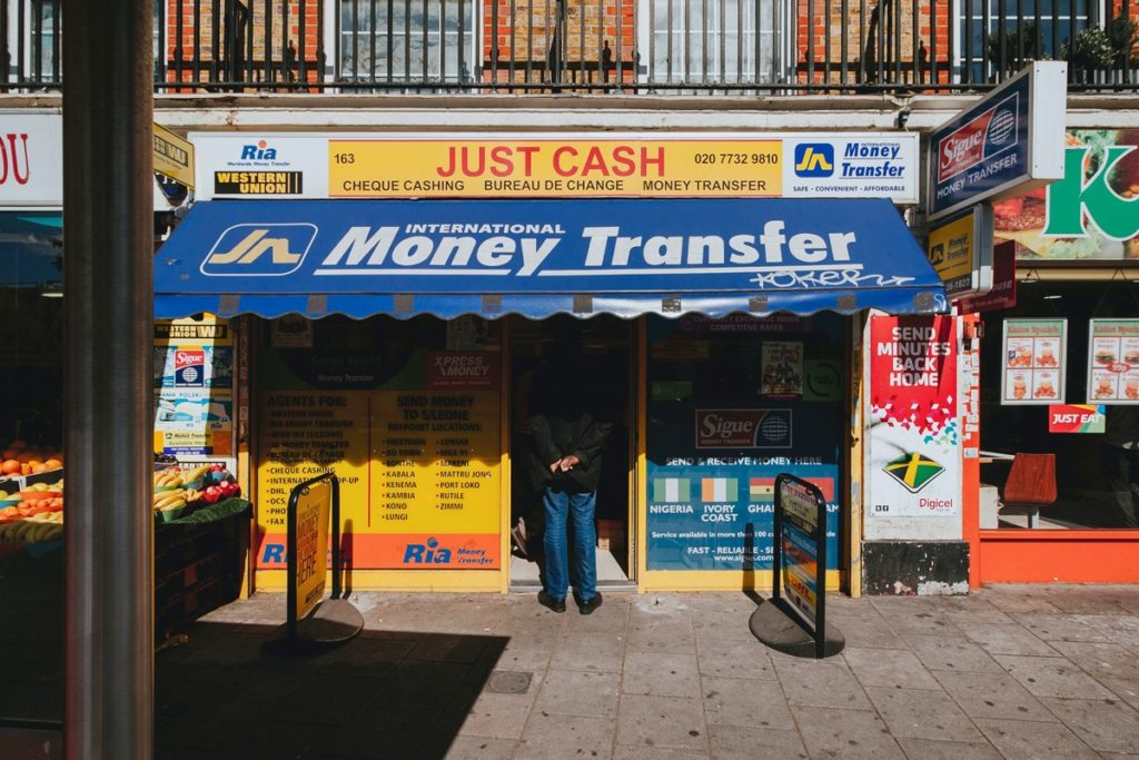 Geldtransfer Shop