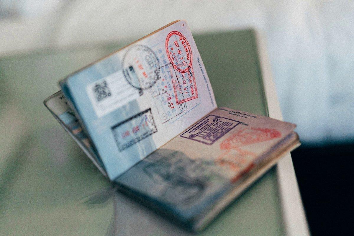 Reisepass mit Einreisestempeln